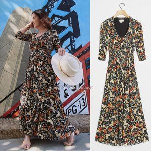 RARE NWT ANTHROPOLOGIE Omya Smocked Maxi Dress